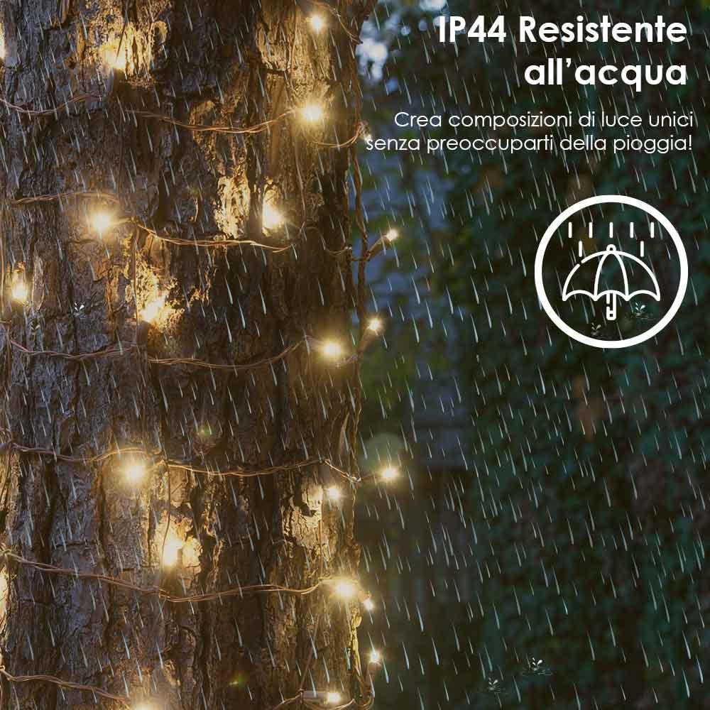 Luci di natale esterne e interne calde 180 led per albero siepi balconi foto 5