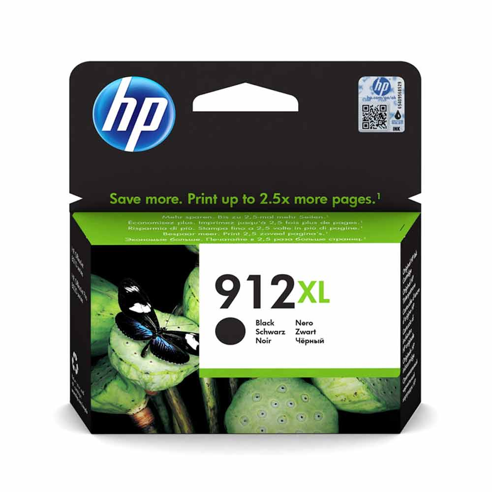 Cartuccia originale HP 912XL inchiostro nero alte prestazioni di stampa 3YL84AE foto 2