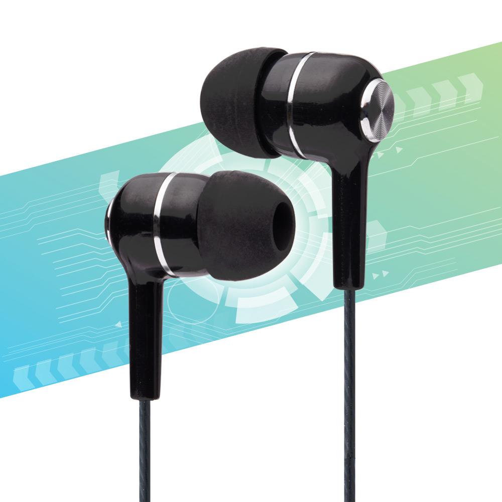 Auricolari in-ear con microfono isolamento del rumore antigroviglio 3,5mm nero