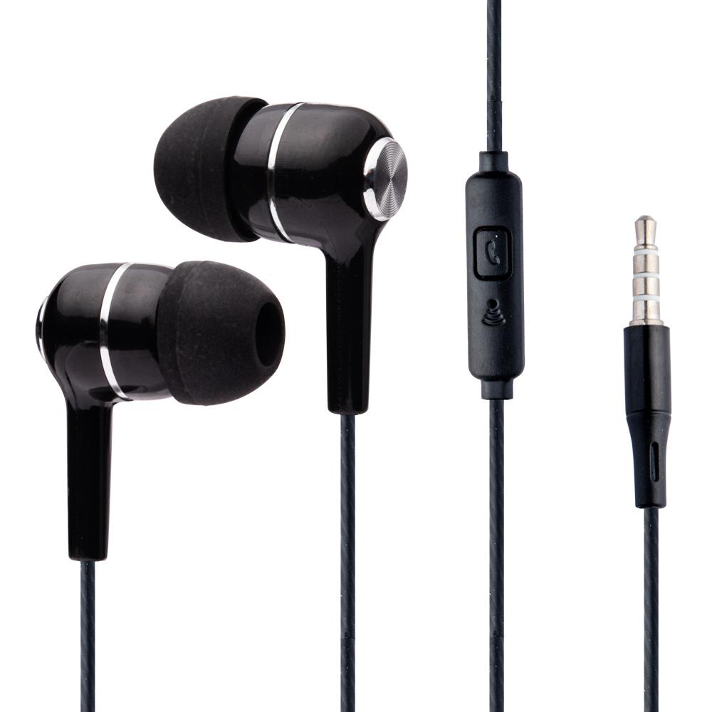 2 Auricolari Nere In-Ear con microfono isolamento del rumore antigroviglio 3,5mm foto 3