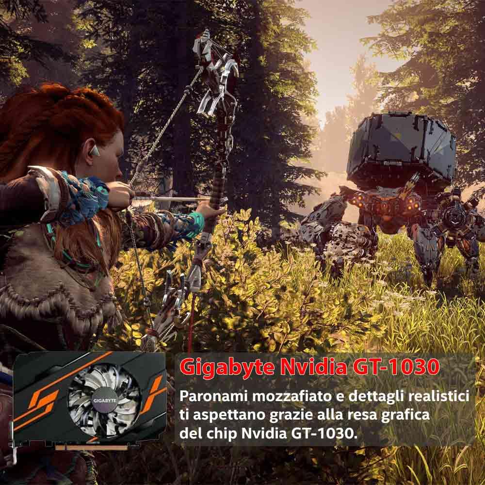 Pc gaming i3 10100 Nvidia gt-1030 da 2gb ram 16gb Ssd 240 ventole red foto 5