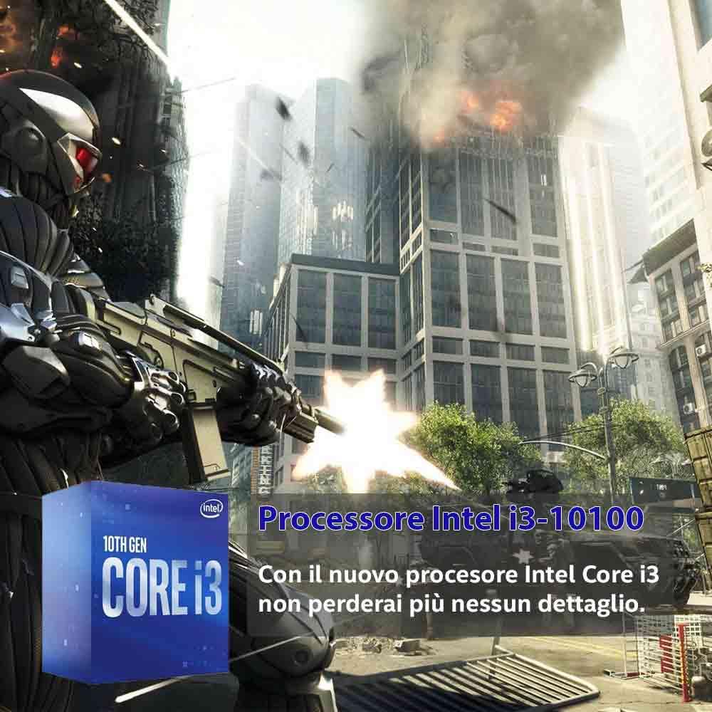Pc gaming i3 10100 Nvidia gt-1030 da 2gb ram 8gb Ssd 240 case gaming foto 4