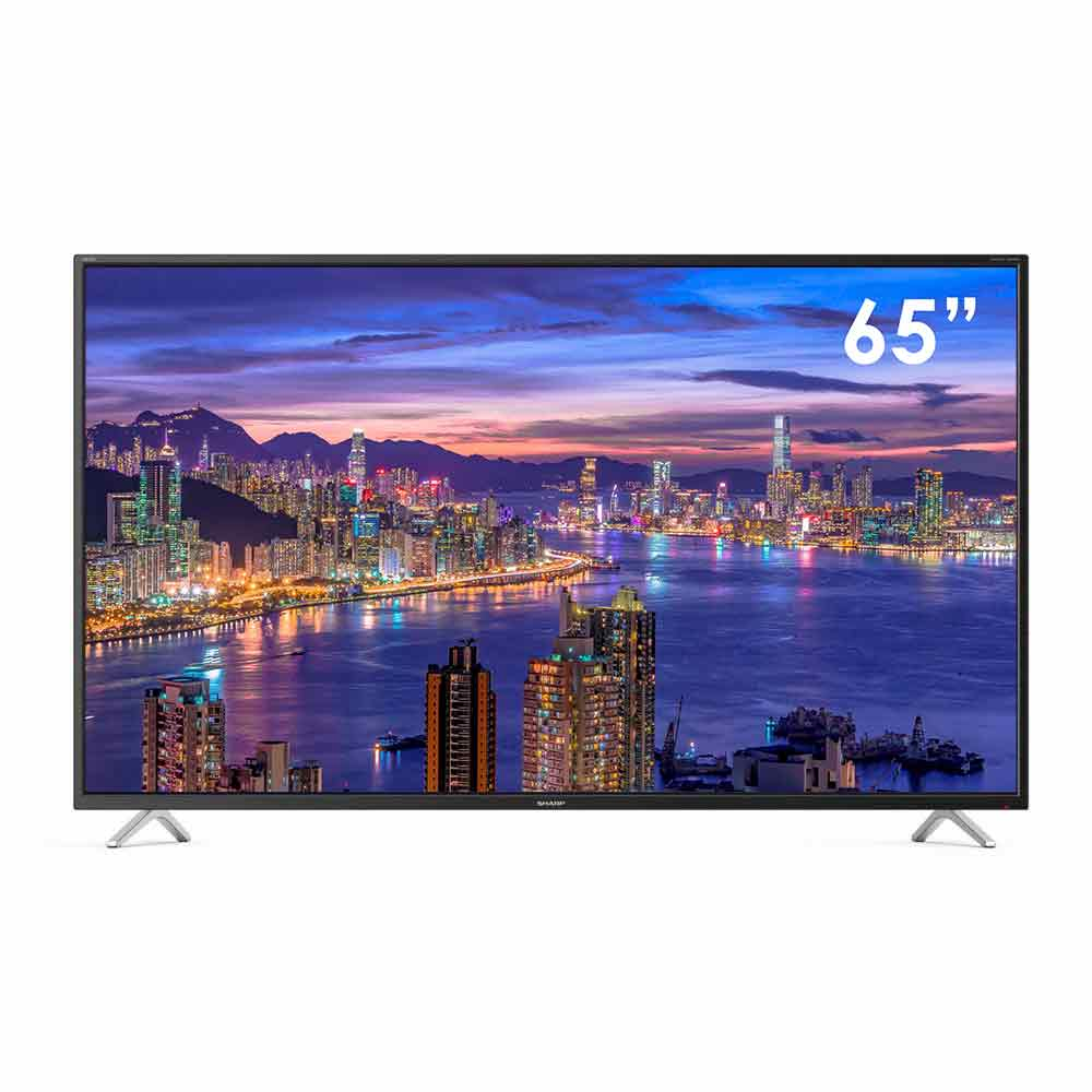 Televisore smart sharp aquos 4k 65 pollici androidtv 9 google assistant 65bl3ea