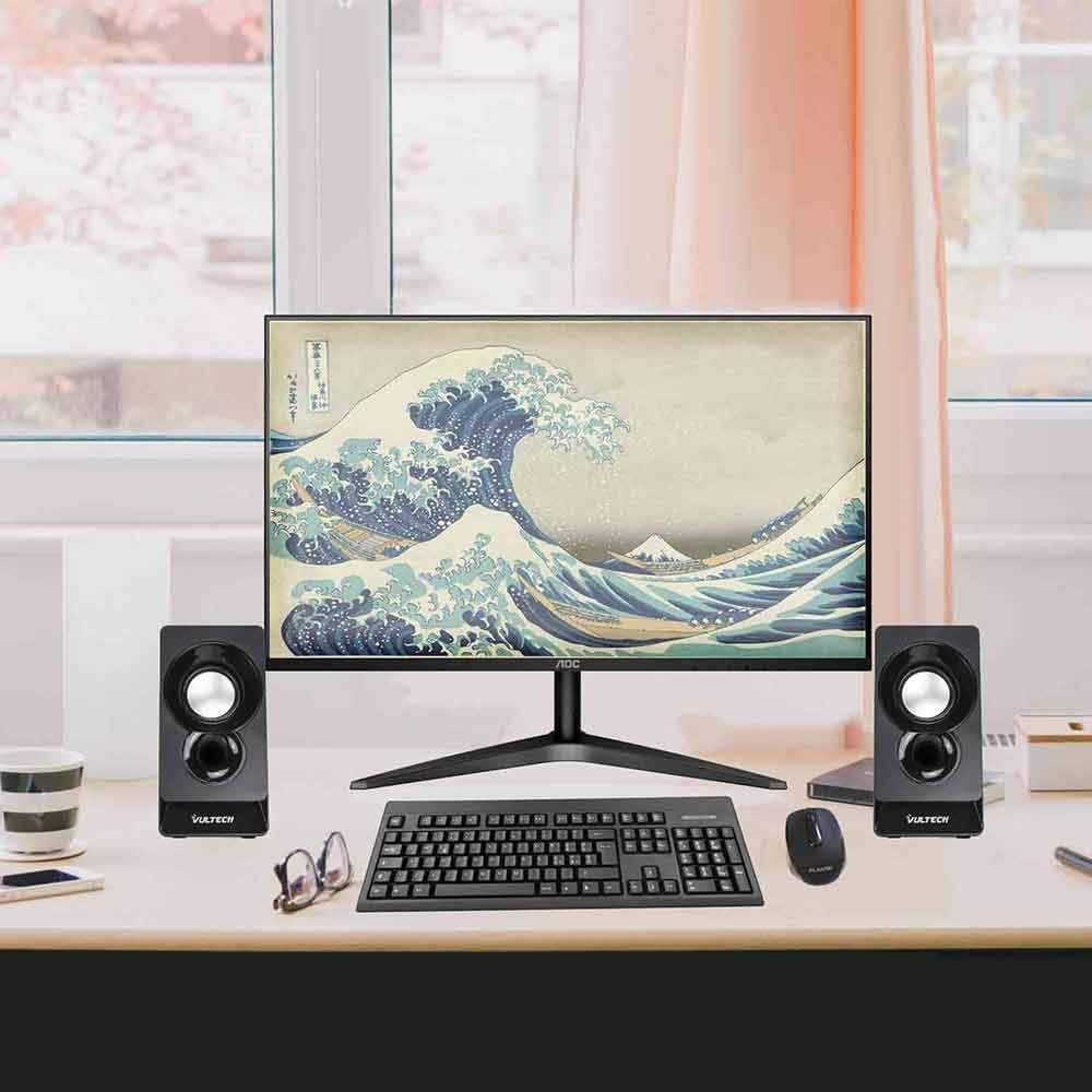 Altoparlanti acustiche vultech autoalimentate usb 2.0 Windows e MacOS foto 5