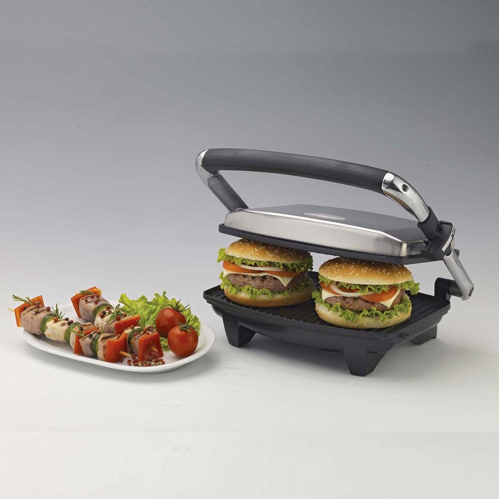 Bistecchiera elettrica per toast con grill versione slim 1000 w multiuso foto 4