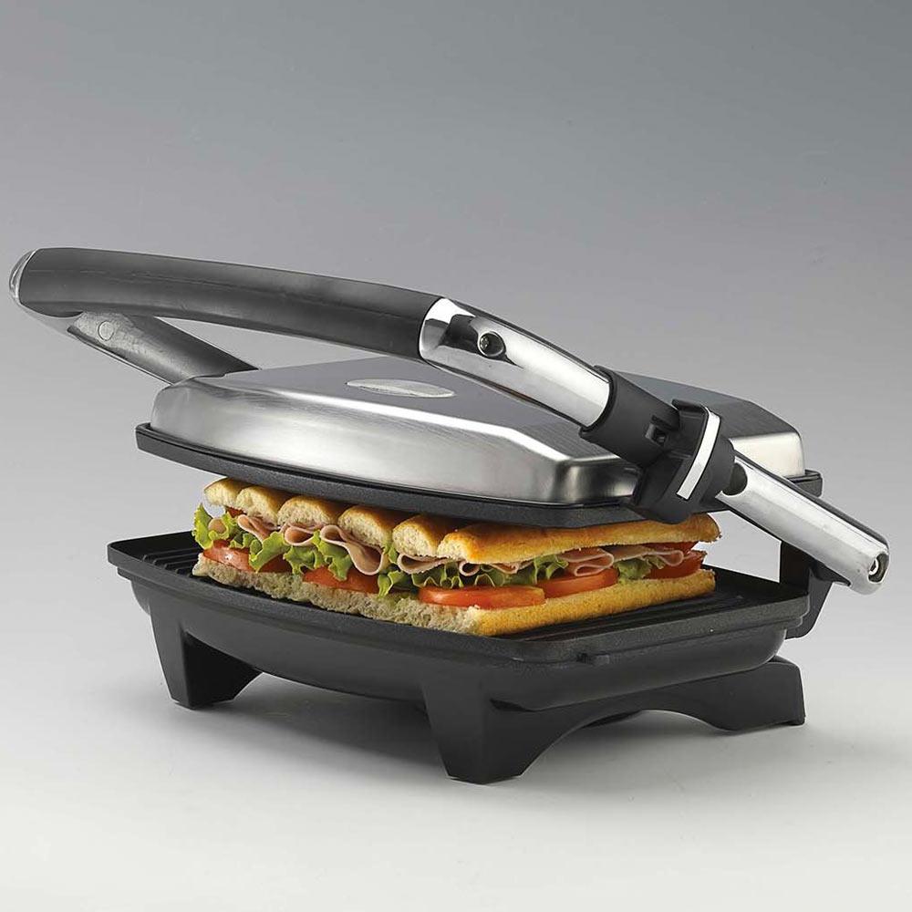 Bistecchiera elettrica per toast con grill versione slim 1000 w multiuso foto 5
