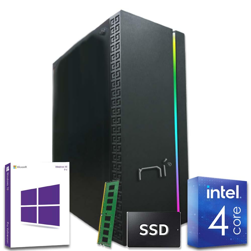 Pc fisso Intel quad core 8gb ram DDR4 ssd 240gb case gaming Win10 con licenza  foto 2