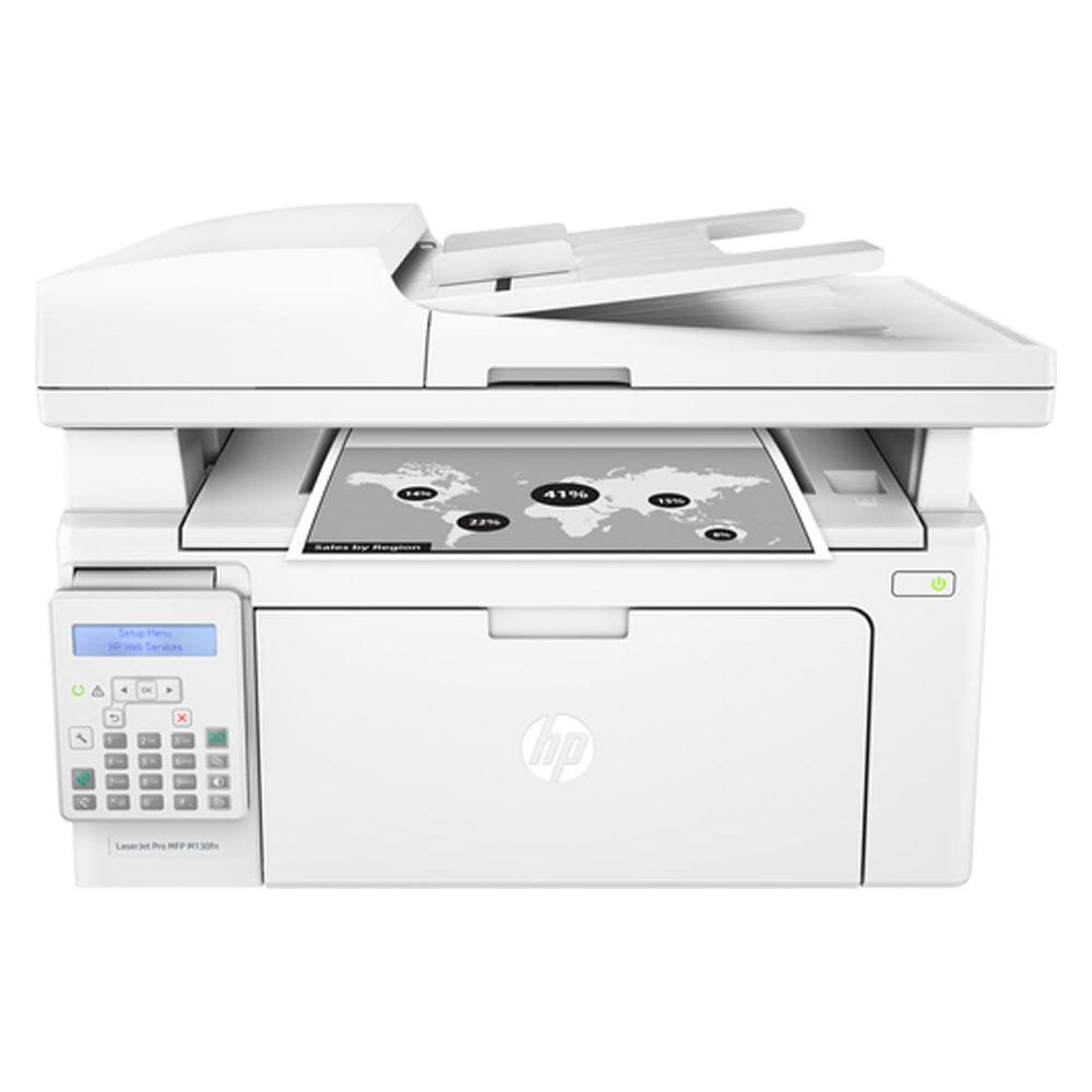 Stampante hp laserjet pro m130fn multifunzione fotocopiatrice scan fax lan usb