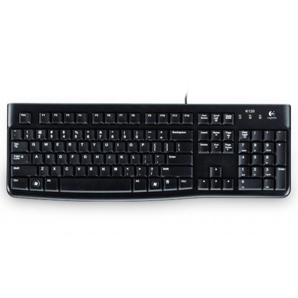 Tastiera logitech k120 layout ita qwerty per windows macos linux ergonomica.