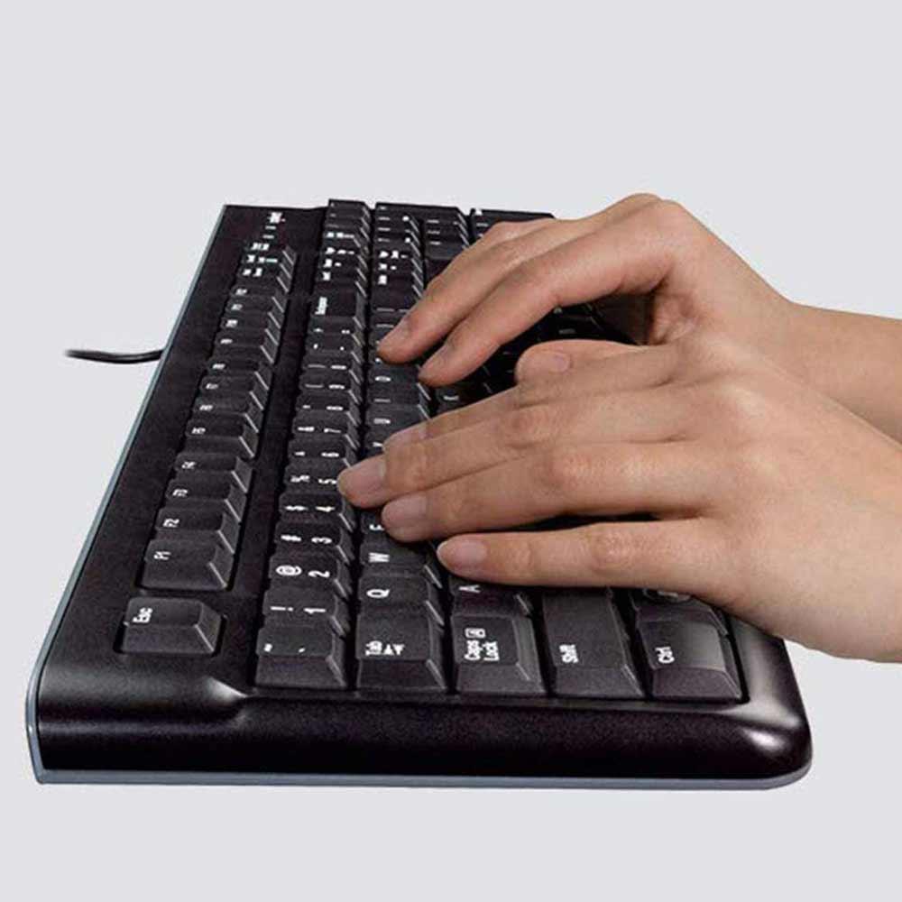 Tastiera Logitech K120 layout ITA QWERTY per Windows MacOS Linux ergonomica foto 4