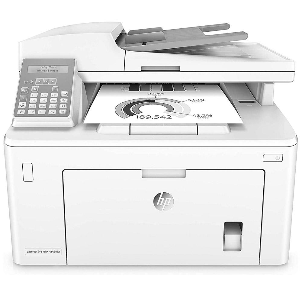 Stampante HP LaserJet pro M148FDW bianco nero multifunzione e fax wireless foto 2