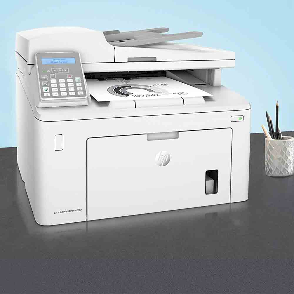 Stampante HP LaserJet pro M148FDW bianco nero multifunzione e fax wireless foto 3