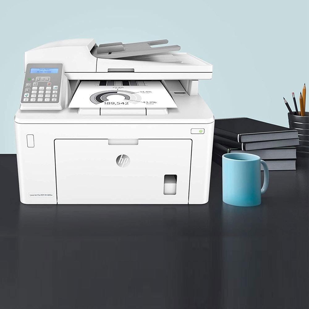Stampante HP LaserJet pro M148FDW bianco nero multifunzione e fax wireless foto 4