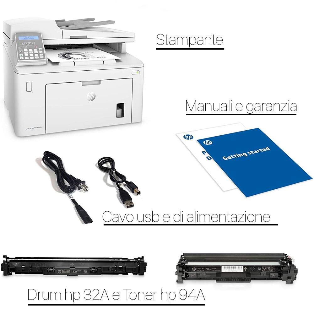 Stampante HP LaserJet pro M148FDW bianco nero multifunzione e fax wireless foto 6