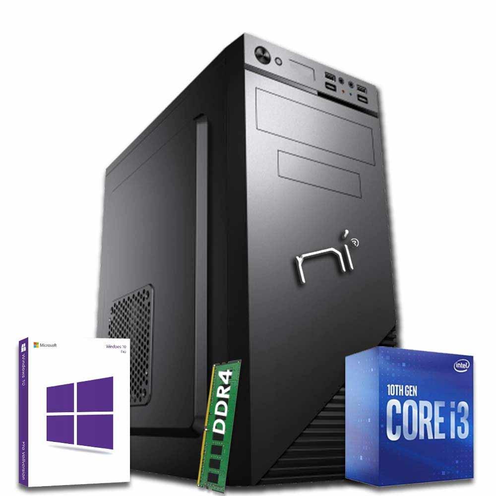 Pc desktop intel i3-10100 quad core windows 10 8gb ram hard disk 1tb wifi hdmi