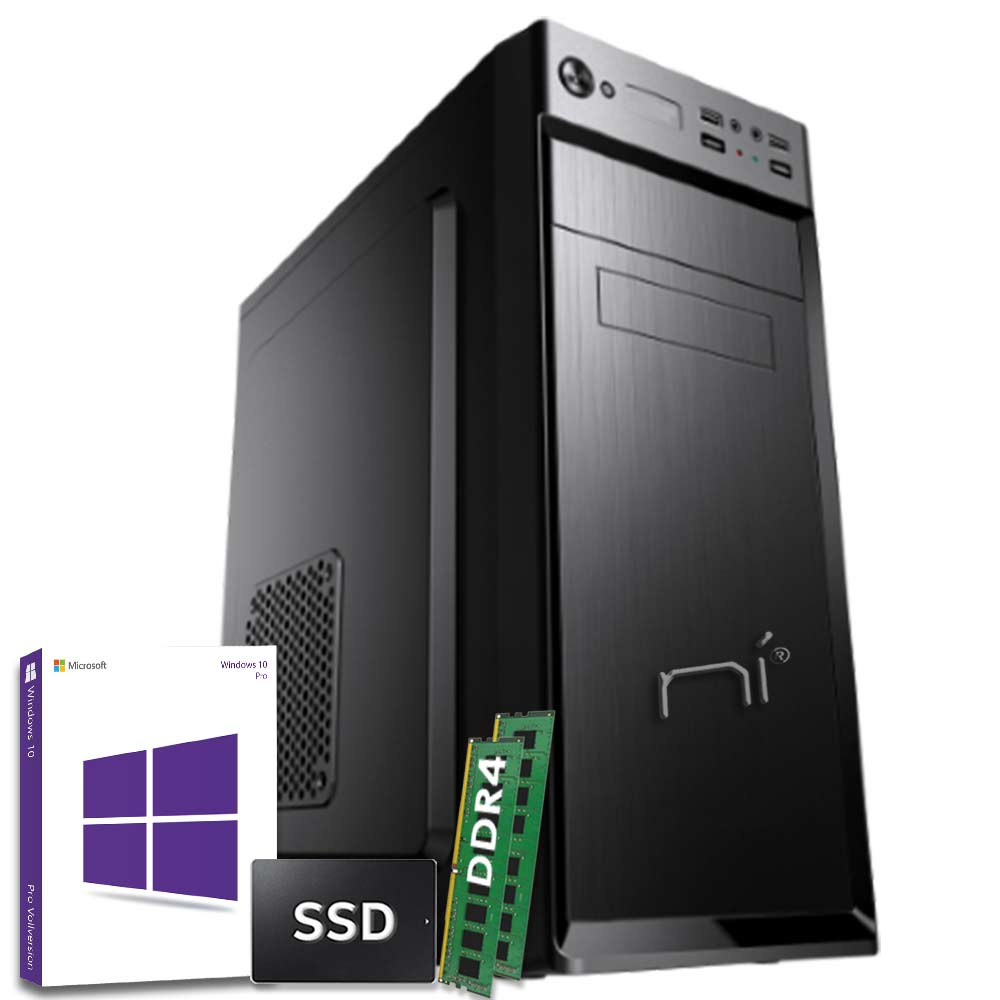 Pc Desktop Intel quad core 16gb ram DDR4 ssd 240gb Windows 10 con licenza WiFi foto 2