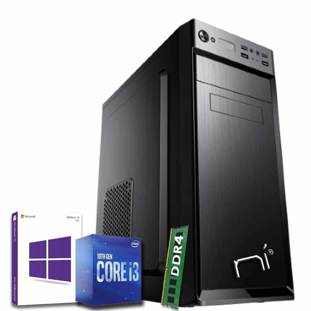 Pc Desktop Windows 10 con licenza Intel i3 10100 8gb ram hard disk 1TB WiFi HDMI foto 2