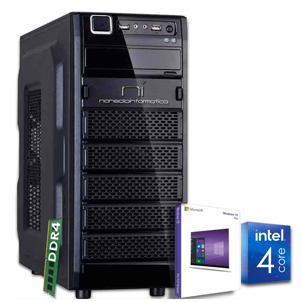 Pc desktop windows 10 con licenza intel quad core 8gb ram ddr4 hdd 1tb wifi hdmi