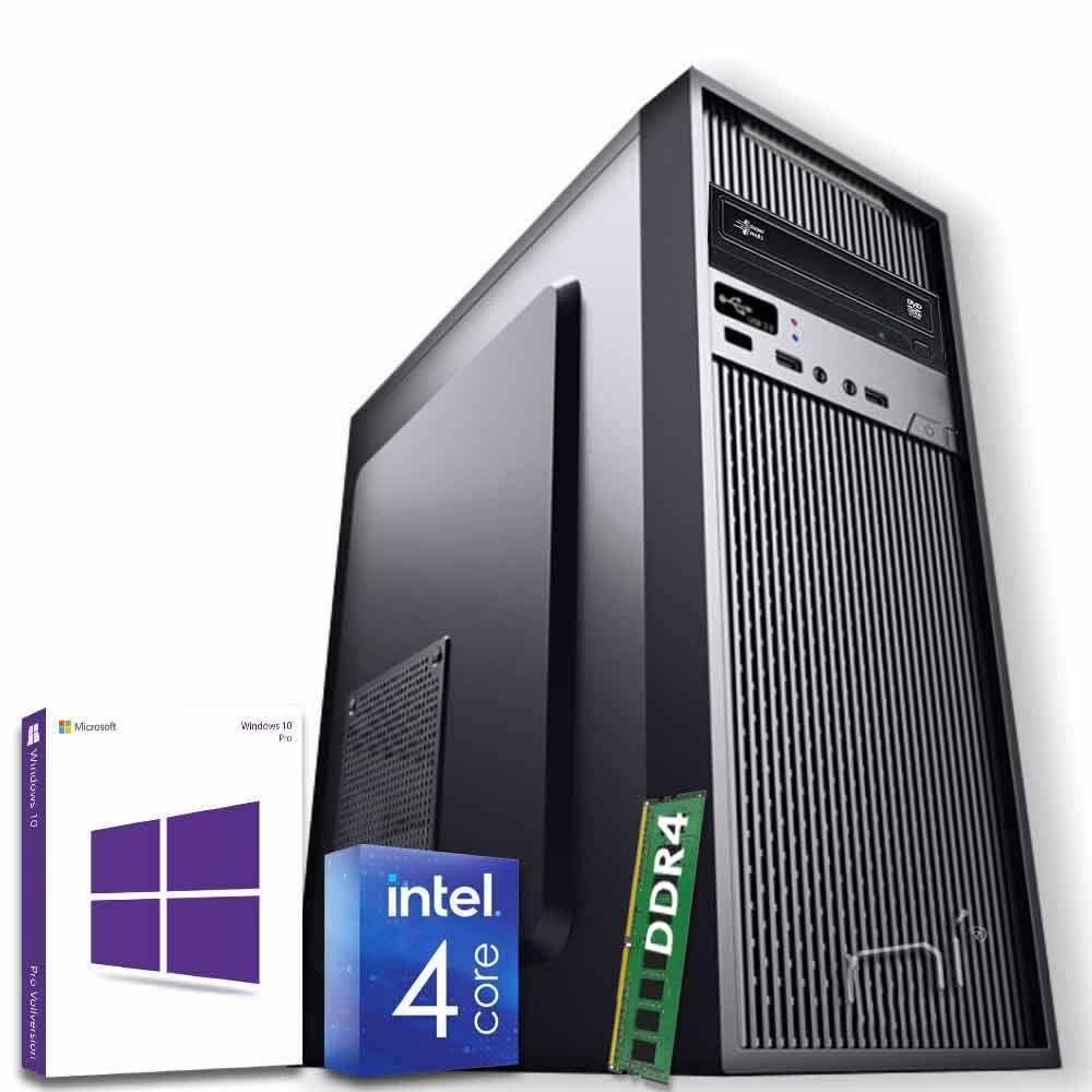 Pc desktop windows 10 con licenza intel quad core 8gb ram ddr4 hdd 500gb wifi