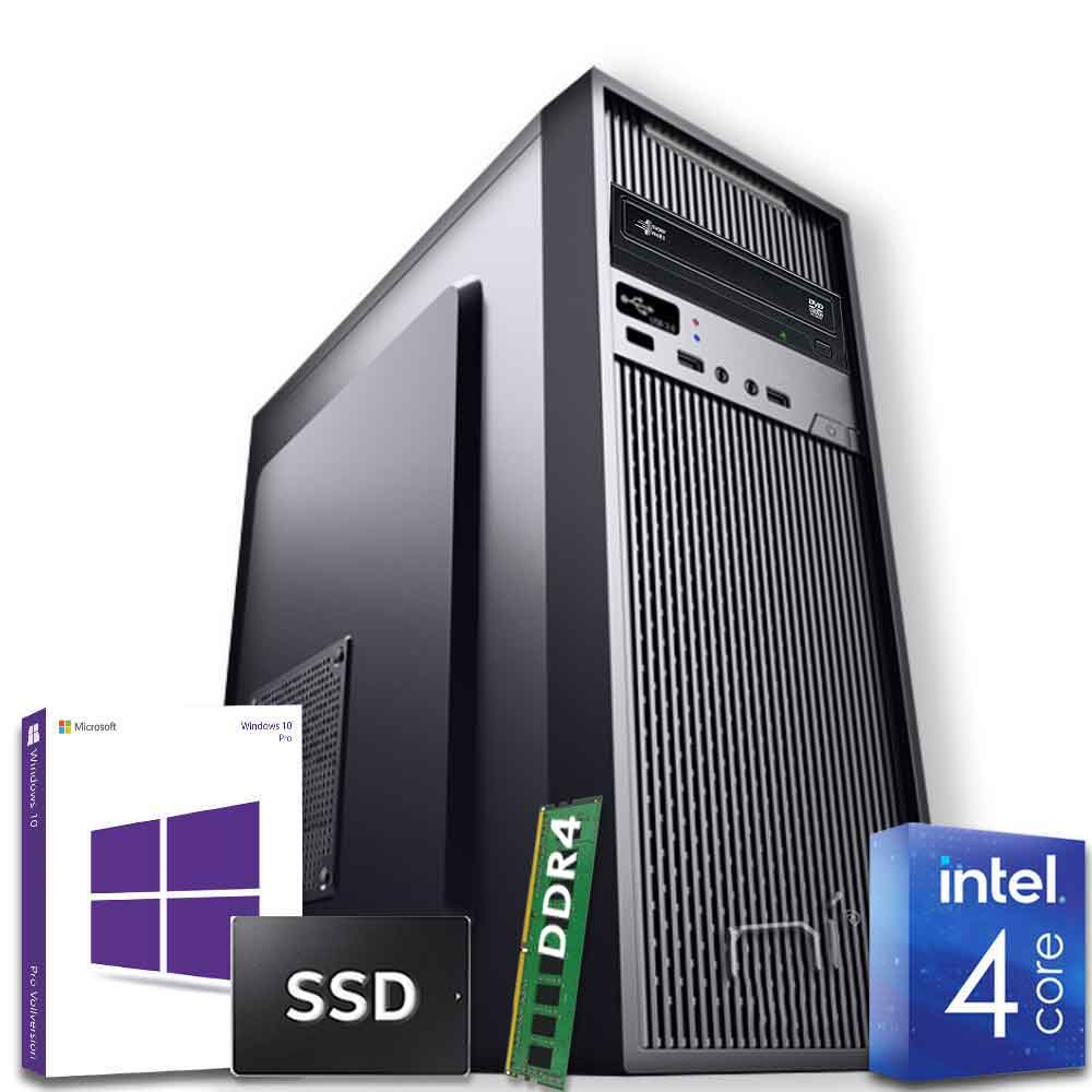 Pc desktop windows 10 con licenza intel quad core 8gb ram ddr4 ssd 240 gb wifi