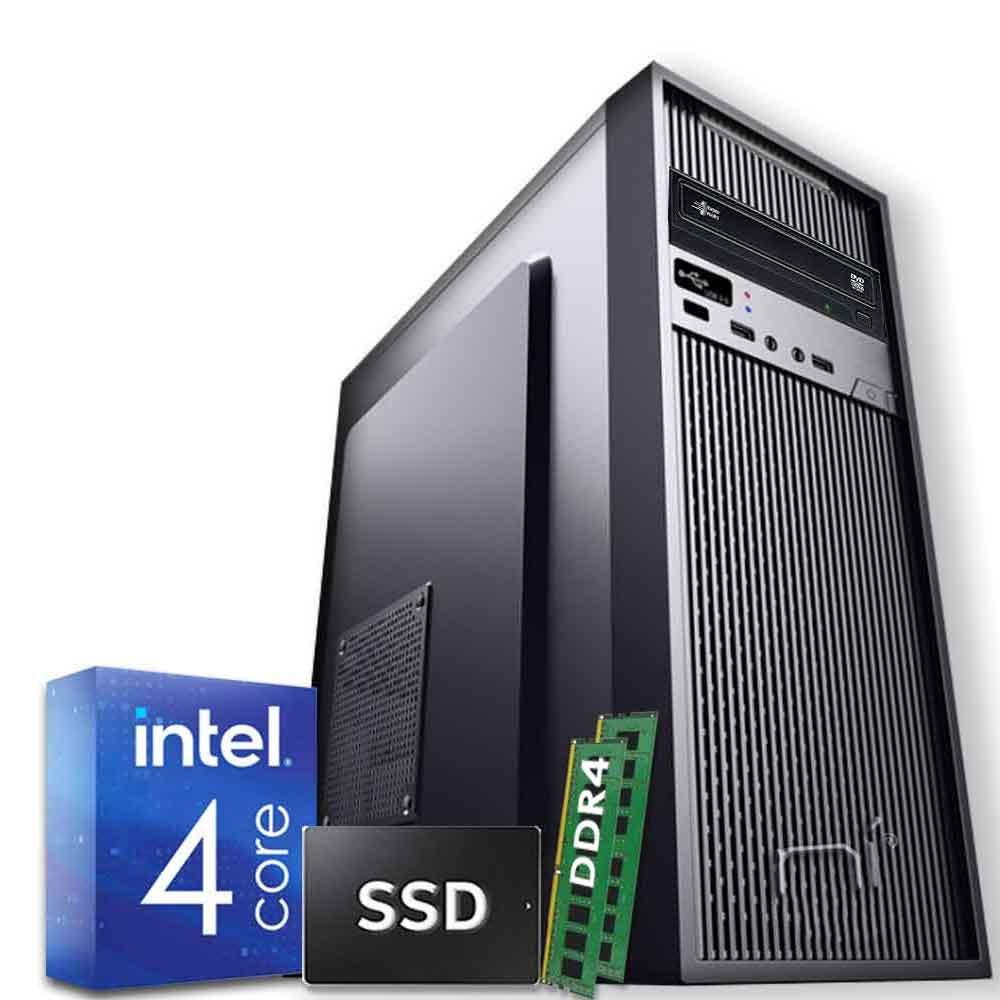 Pc Desktop Windows 10 Intel quad core 16gb ram DDR4 ssd 120gb WiFi HDMI foto 2