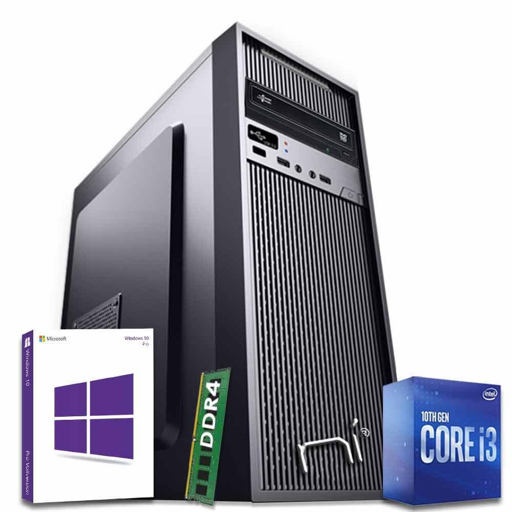 Pc Fisso Intel i3-10100 quad-core 8gb ram hard disk 1tb win 10 pro licenziato foto 2