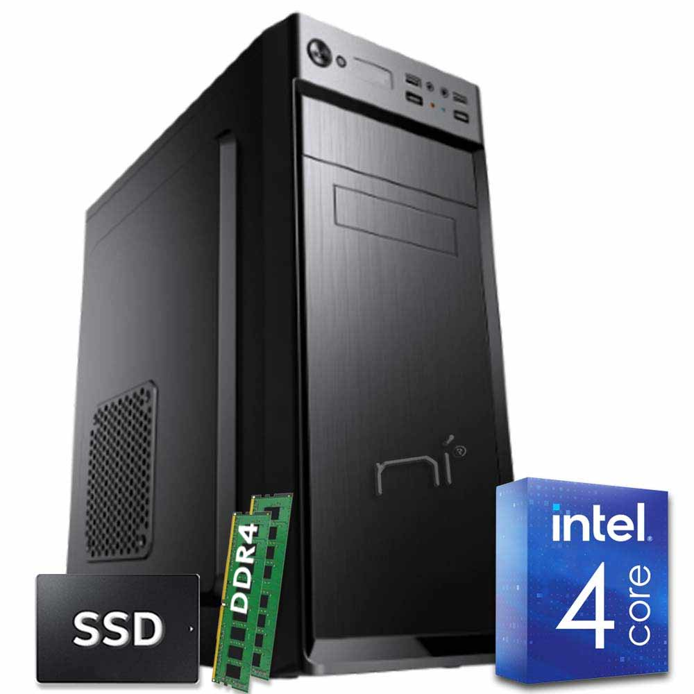Pc fisso intel quad core 16 gb ram ddr4 ssd 480 gb windows 10 wifi hdmi
