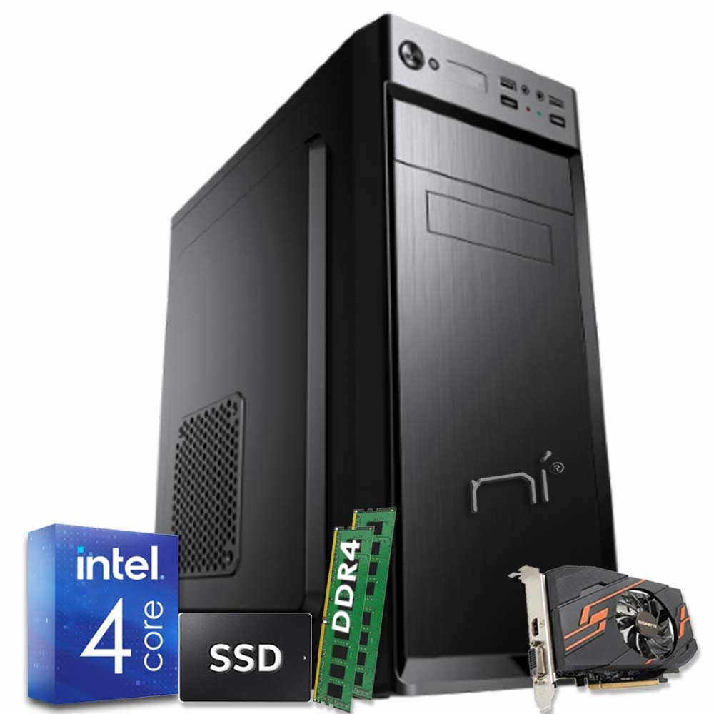 Pc fisso pulsar intel quad core 16gb ram ddr4 ssd 240gb nvidia gt 1030 wifi hdmi