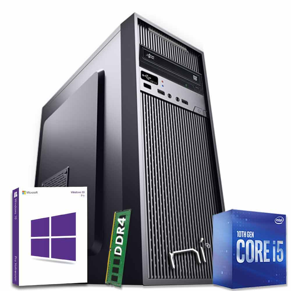 Pc fisso windows 10 con licenza intel i5-10400 hexa-core 8gb ram hard disk 1tb