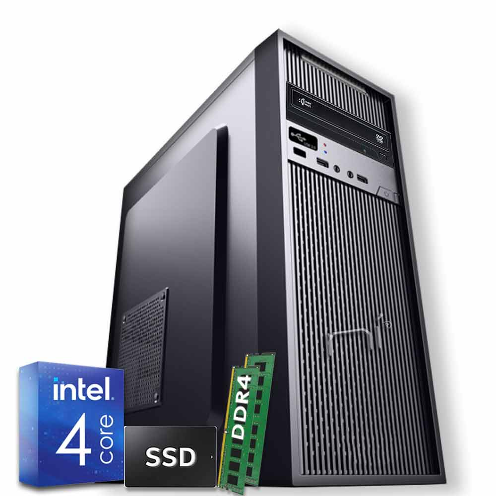 Pulsar Pc fisso Veloce Intel quad core 16gb ram ssd 240gb WiFi HDMI Windows 10