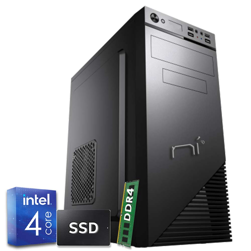 Pulsar pc windows 10 intel quad core 8gb ram ddr4 ssd 240gb wifi hdmi