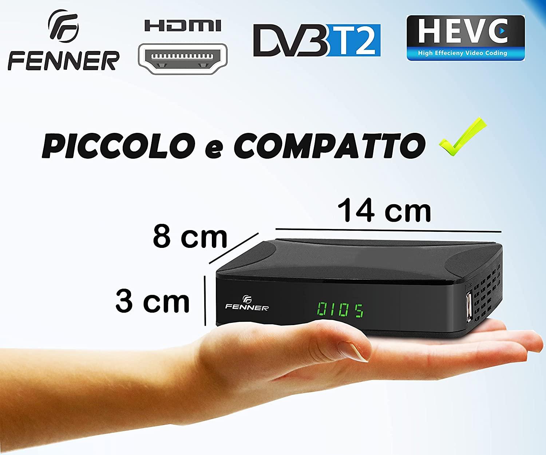 Decoder DVB-T2 HD 1080p Digitale terrestre autosintonizzazione HDMI HEVC H265 foto 4