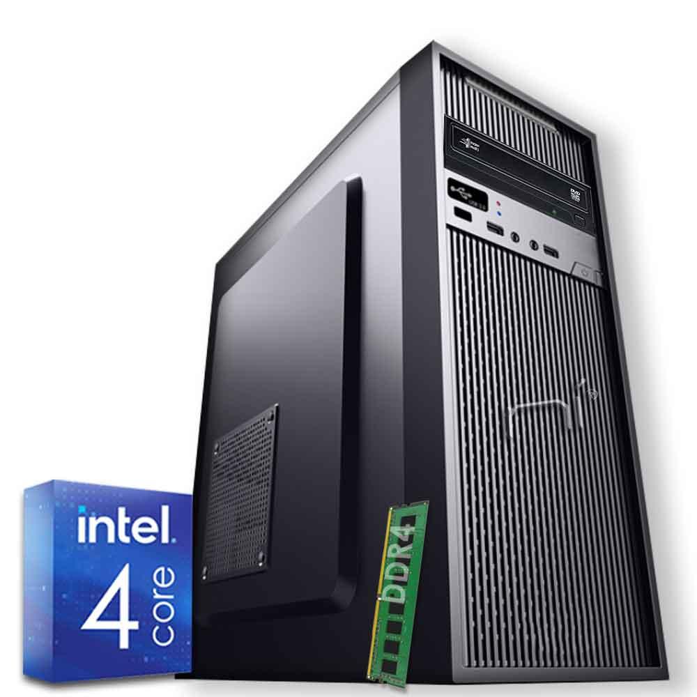Pc assemblato 3 monitor intel quad-core 8gb ram 240 gb ssd windows 10 wifi hdmi foto 2