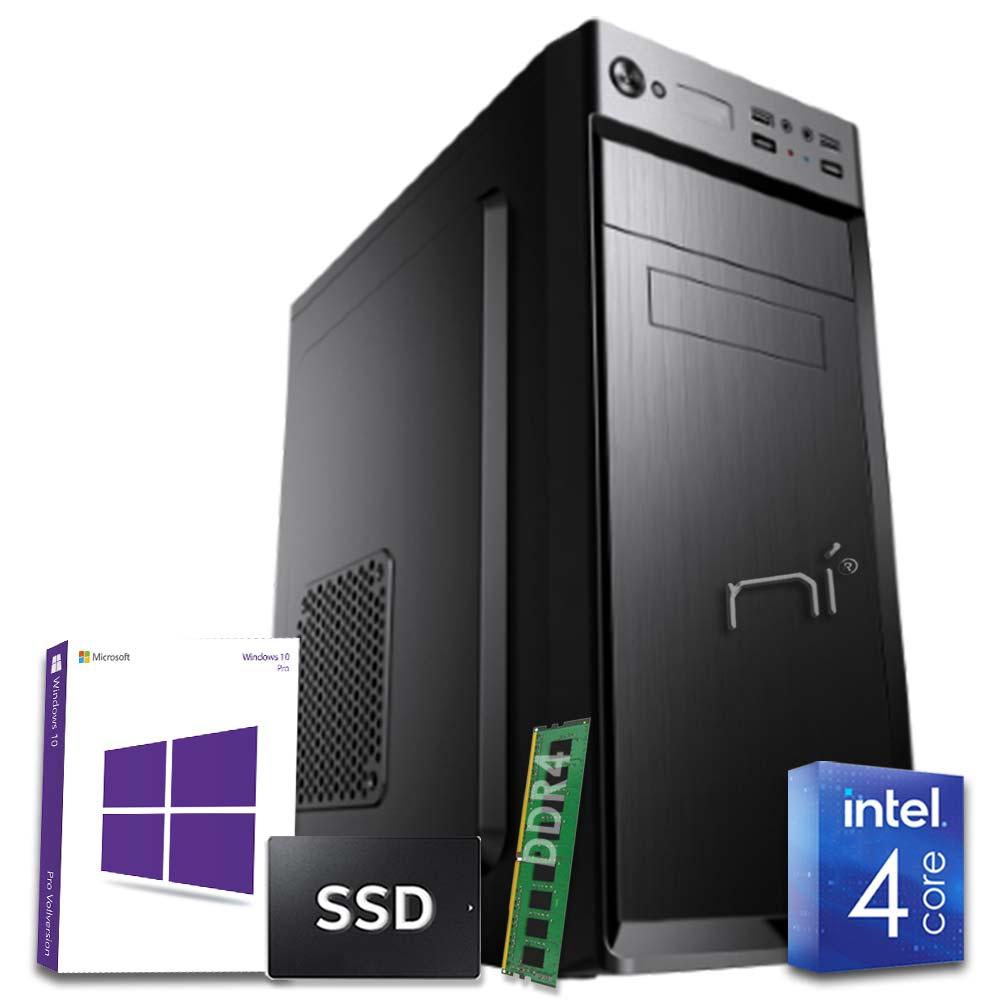 Pc desktop 3 monitor intel quad-core 8gb ram ddr4 240 gb ssd win10 licenziato