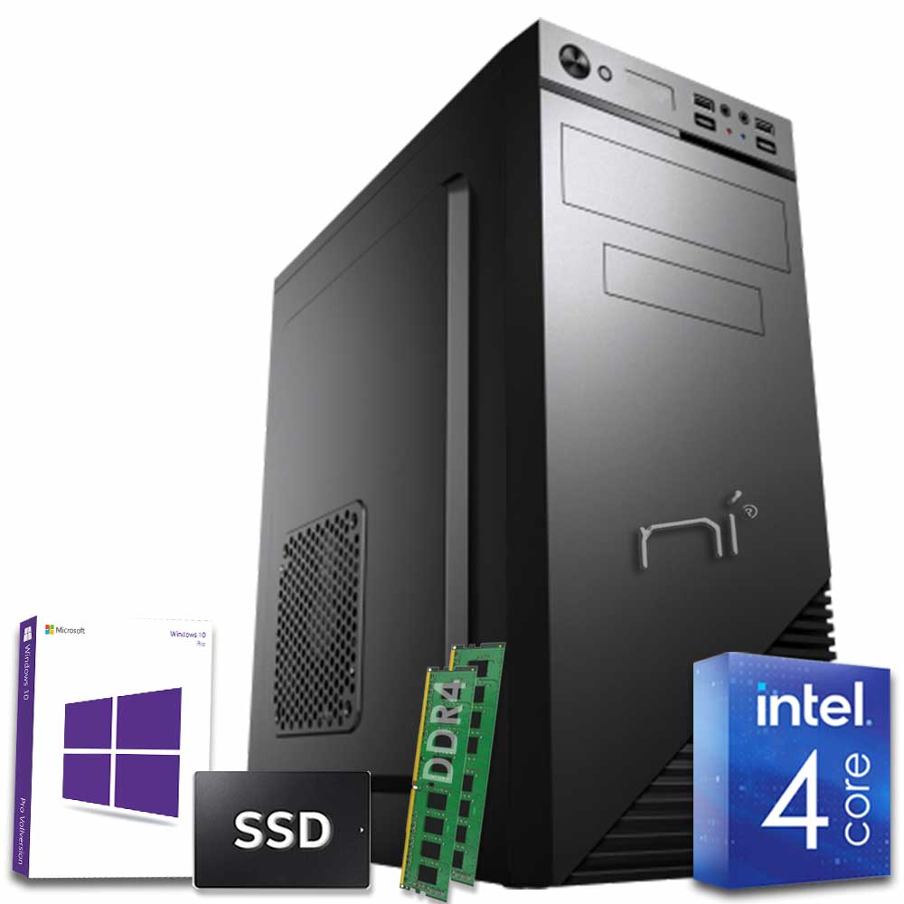 Pc desktop 3 monitor intel QuadCore 16gb ram DDR4 480gb ssd Win10 con licenza