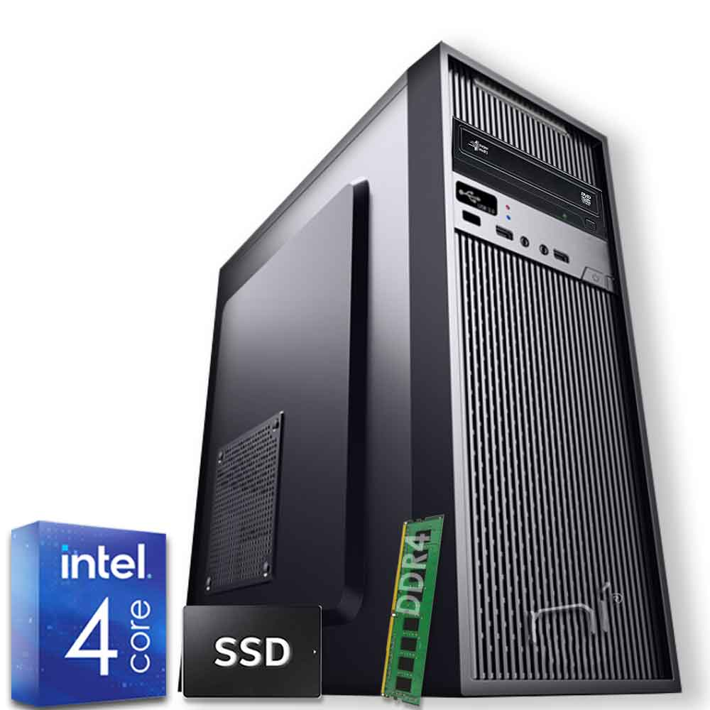 Pc desktop 3 monitor intel quadcore 8gb ram ddr4 480 gb ssd windows 10 wifi hdmi