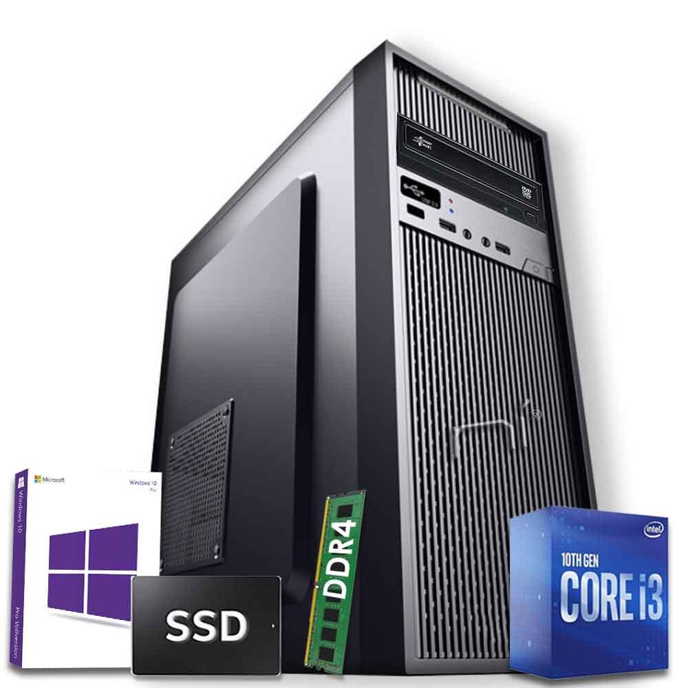 Pc Desktop Intel i3-10100 8gb ram ddr4 ssd 1tb Windows 10 licenziato WiFi HDMI foto 2
