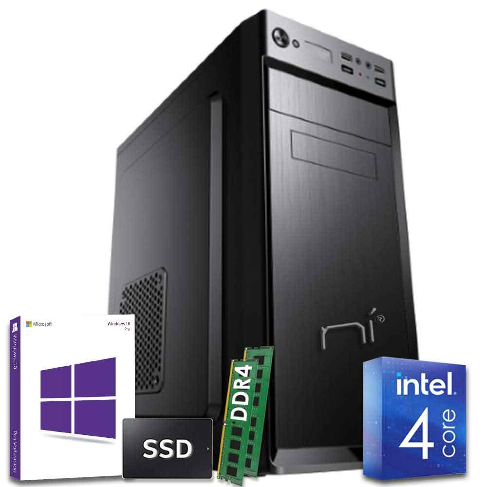 Pc desktop intel quad core 16 gb ddr4 ram ssd 1tb windows 10 con licenza wifi