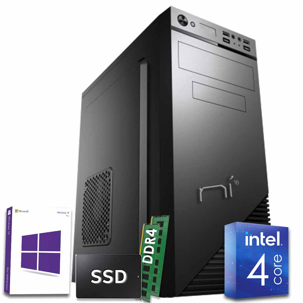 Pc desktop windows 10 con licenza intel quad core 16gb ram ddr4 ssd 1 tb wifi