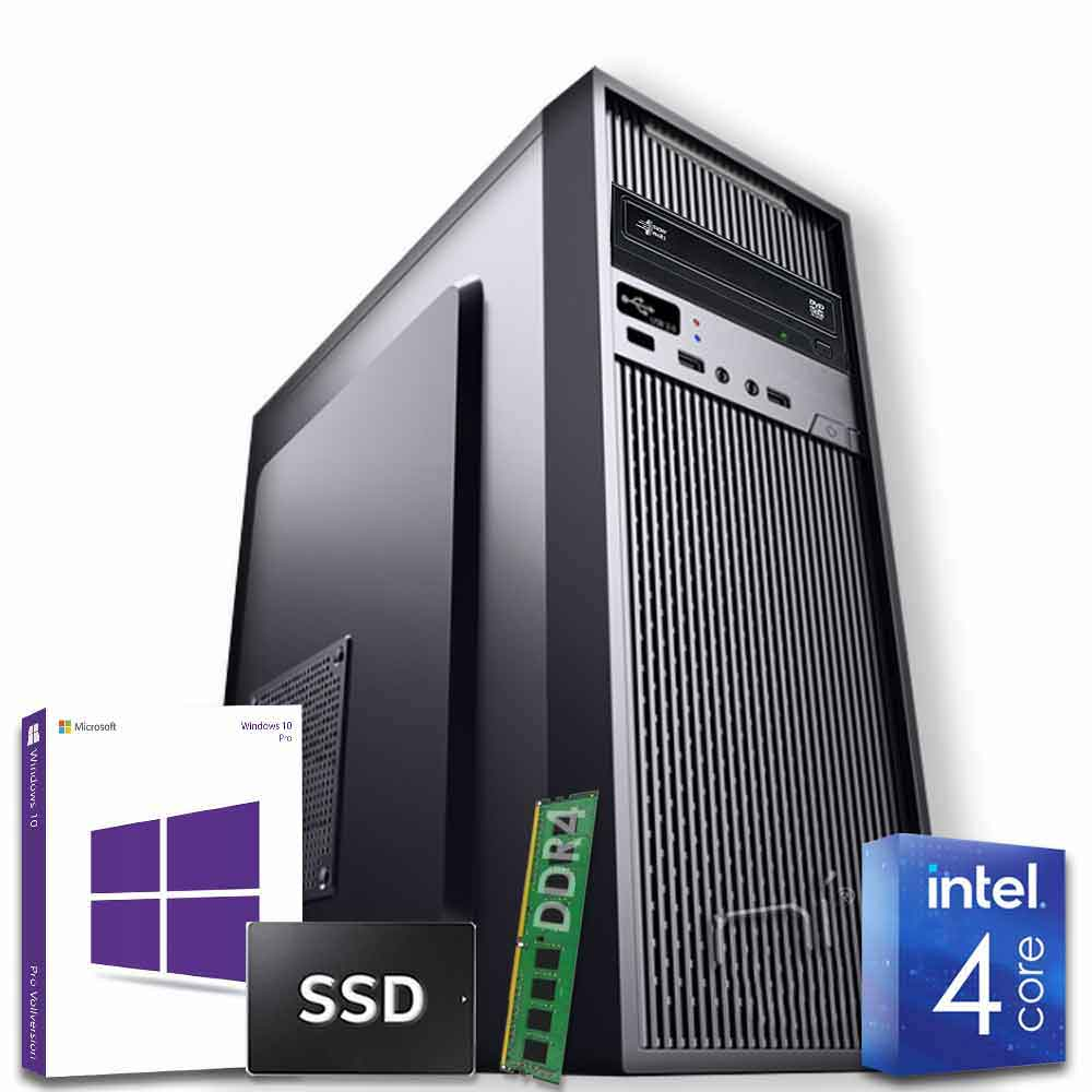 Pc desktop windows 10 con licenza intel quad core 8gb ddr4 ram ssd 1tb wifi hdmi