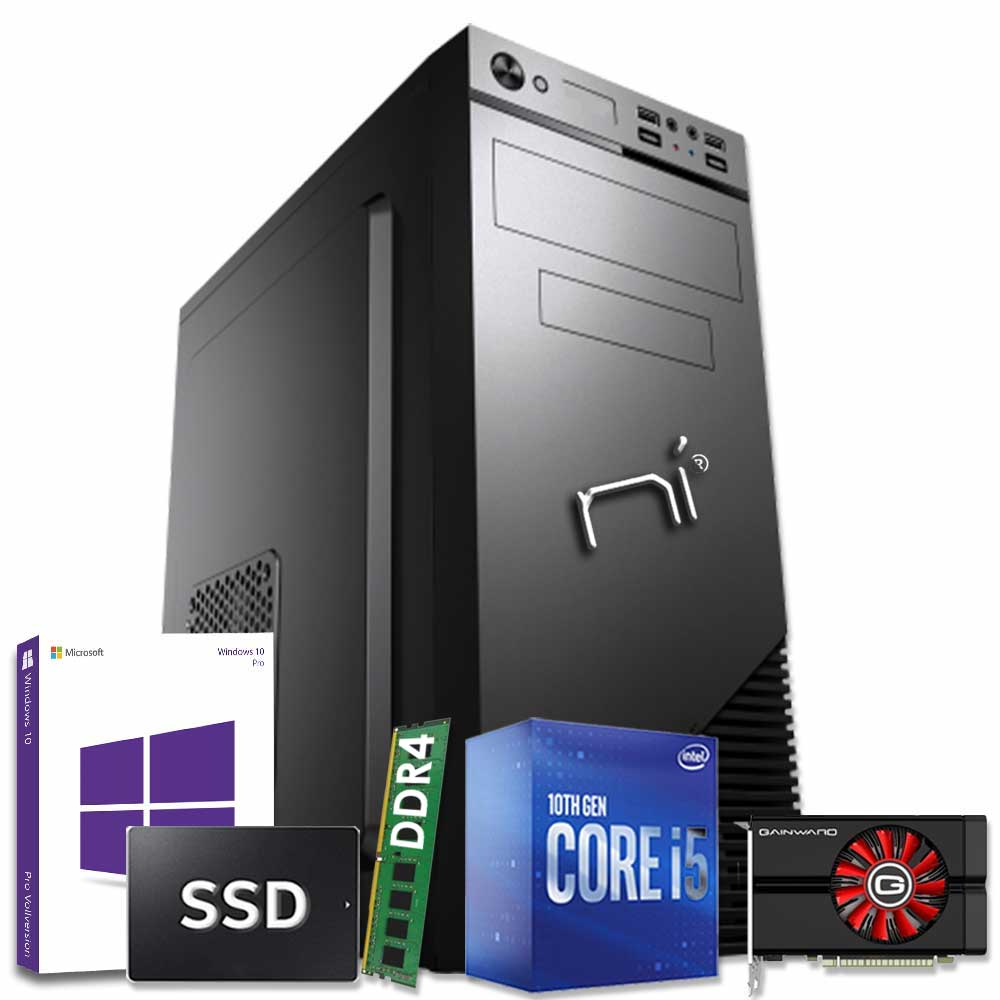 Pc fisso intel i5-10400 8gb ram hdd 1tb ssd 240gb nvidia gtx 1050ti windows 10
