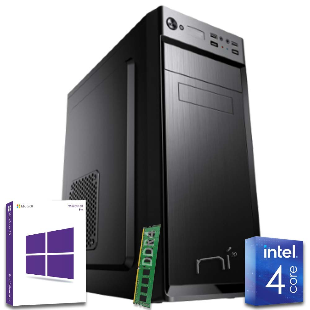 Pc fisso intel quad core 8gb ram ddr4 hdd 1tb wi-fi hdmi win10 pro con licenza