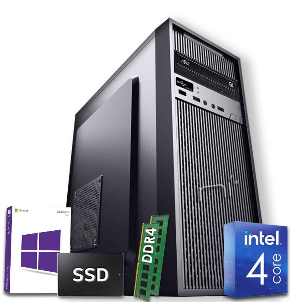 Pc Fisso Windows 10 licenziato Intel quad core 16gb ram DDR4 ssd 480gb WiFi HDMI foto 2