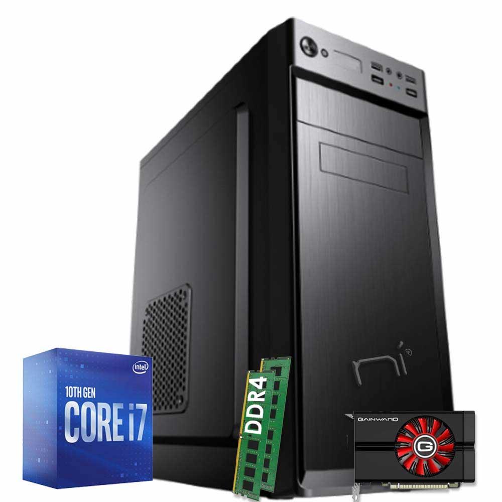 Pc gaming desktop intel I7 10700 ram 16GB hdd 1tb ssd 240gb nvidia gtx 1050 4gb foto 2