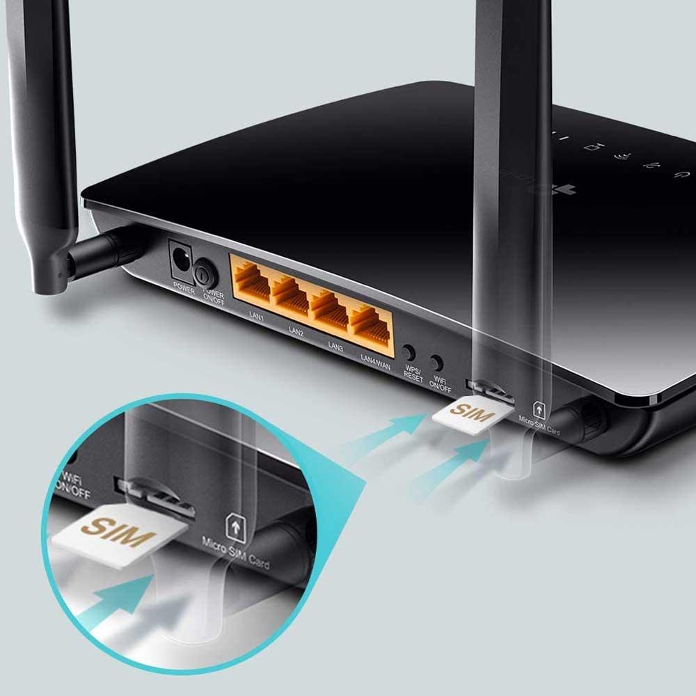 Modem router 4g lte wireless tp-link TL-MR6400 N300 con sim scheda mobili dati foto 5