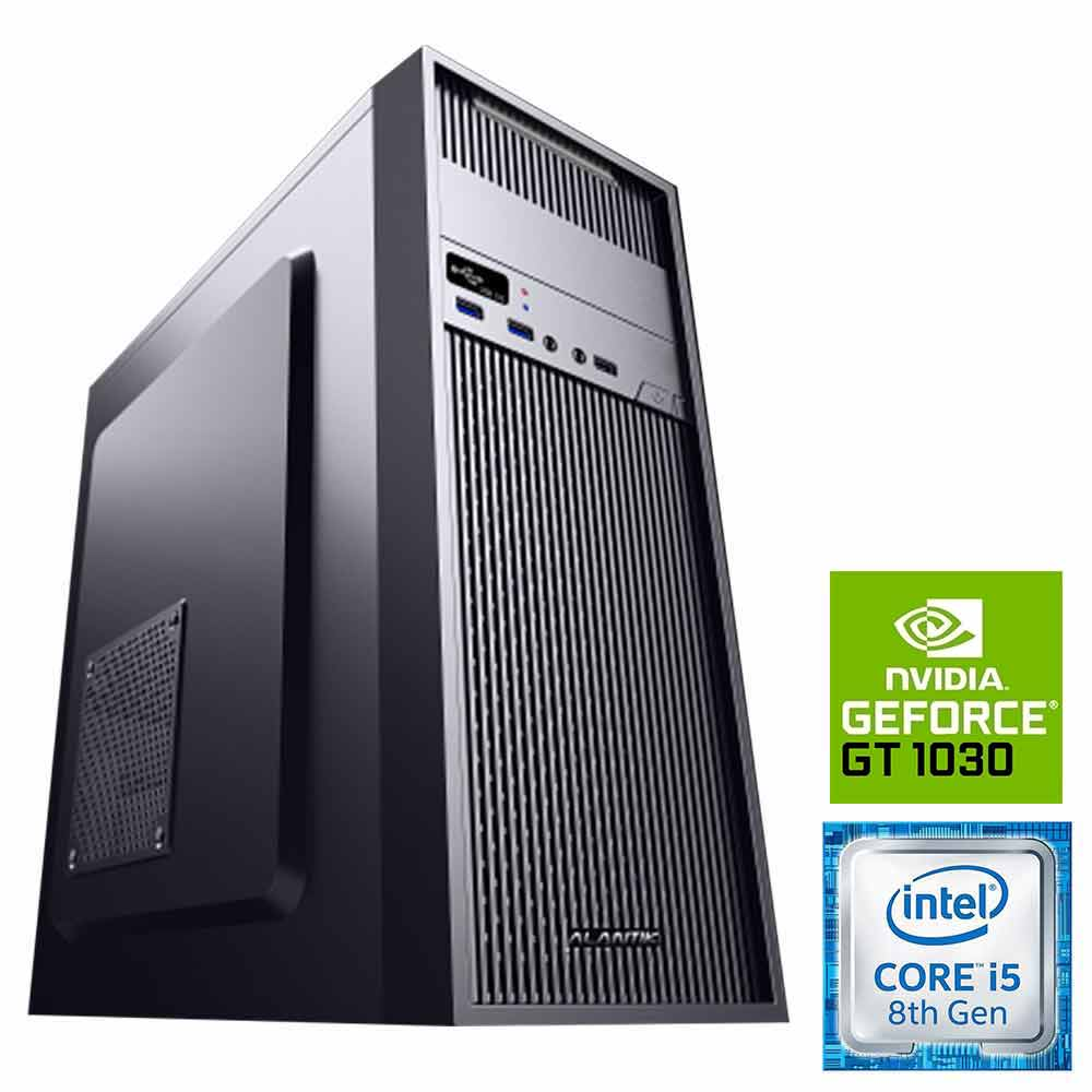 Pc pulsar scheda video gt-1030 2gb intel i5-8400 8gb ram hdd 1tb ssd 240gb