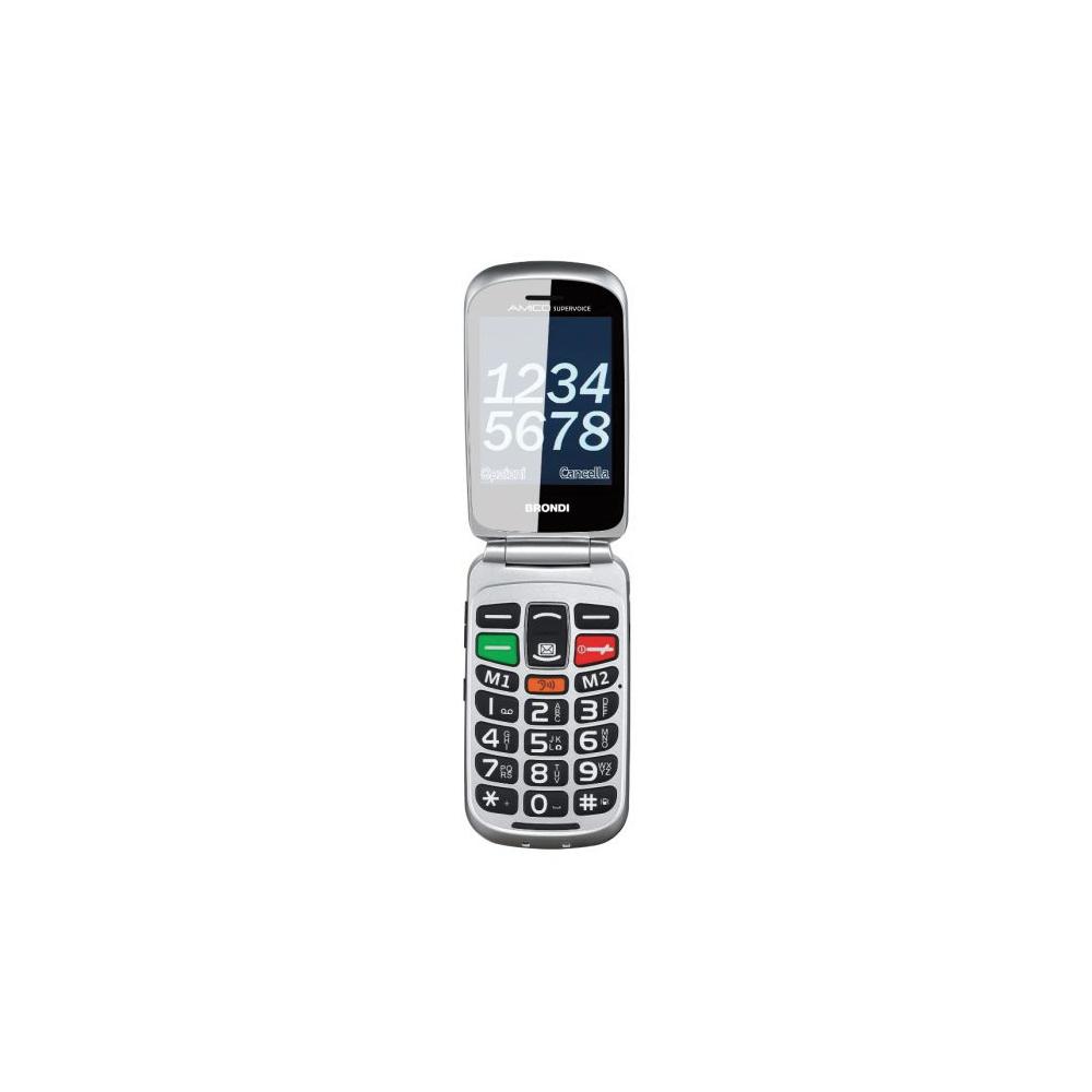 Cellulare brondi amico senior dual sim con tecnologia amplivox di colore nero foto 5