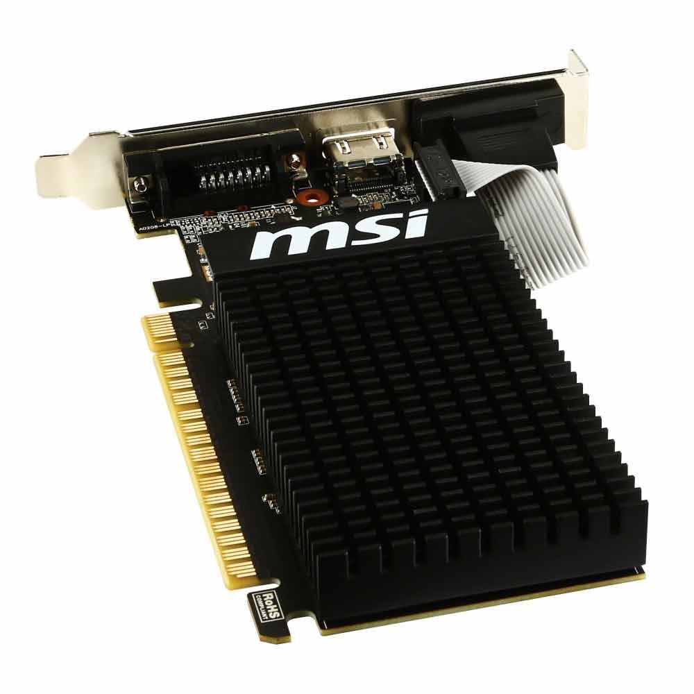 MSI Nvidia GeForce GT-710 da 2GB, VGA, HDMI, DVI, dual screen foto 4