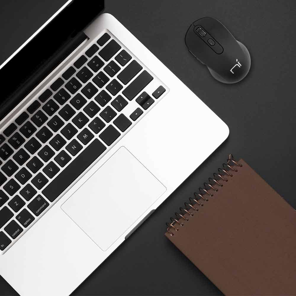 Kit 2 Mouse wireless senza fili ergonomico per computer notebook pc soft touch foto 6