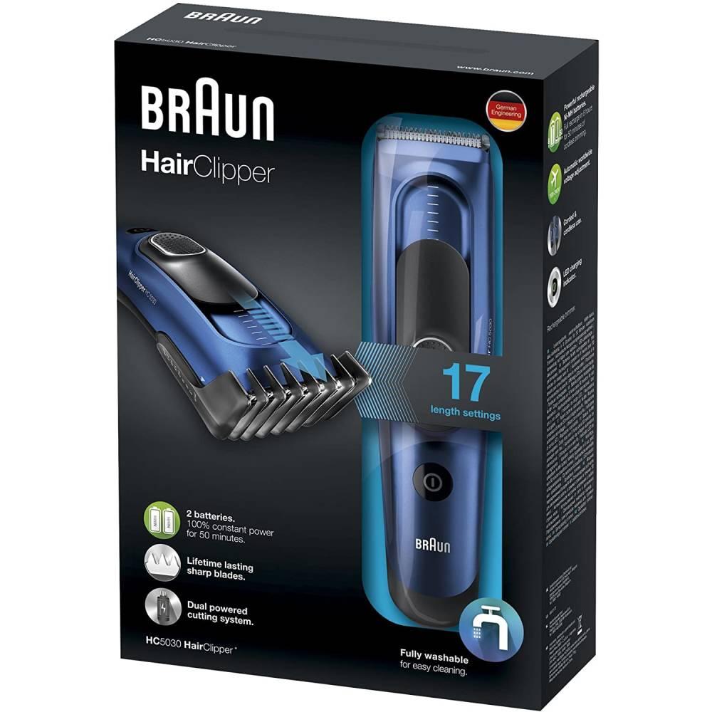 Braun hc5030 tagliacapelli elettrico con 17 impostazioni completamente lavabile